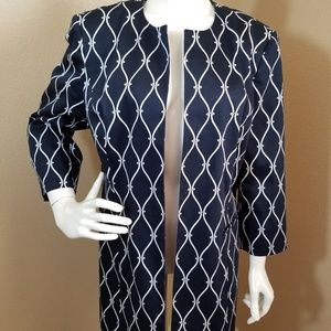 Talbots Chain Link Open Front Jacket Size 16